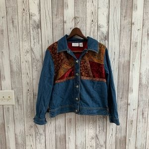 Parisian works Jean patchwork jacket size small